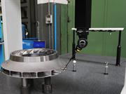 The Renscan 5™ system performing a rapid scan of the impeller diameter