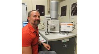 Dr Sergey V Prikhodko from UCLA with his SEM-SCA